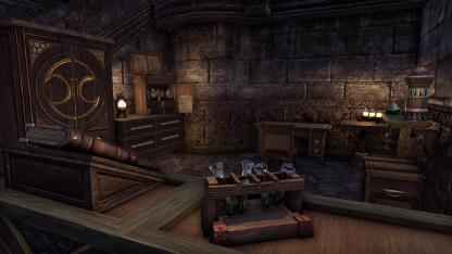 Infirmary Cleric's station with alchemy tools